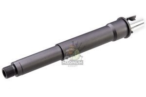 G&P Aluminum 6.5 inch Taper Outer Barrel for G&P Front Set / RAS Series AEG  (14mm CW) - Gray