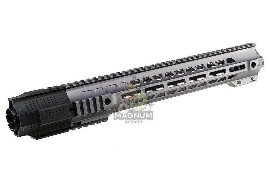G&P Long Railed Handguard with SAI QD System for Tokyo Marui M4 / M16 AEG/ GBB Rifle  - Gray