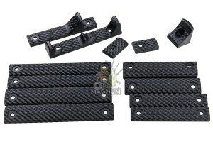 G&P M-lok / Keyomd Rail Cover Set - Black