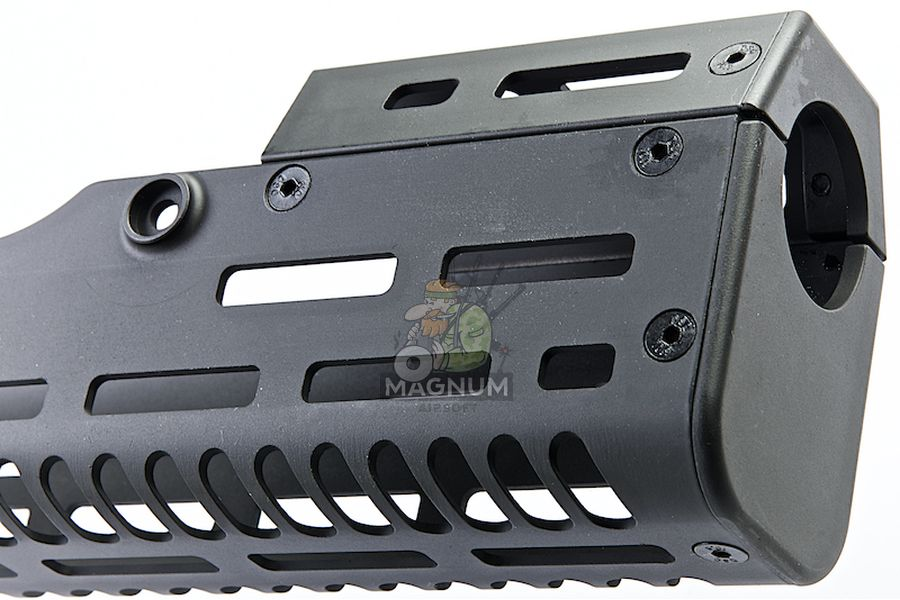 ARES CNC Handguard for Ares T21 AEG Rifle - Long 240mm  (Black)