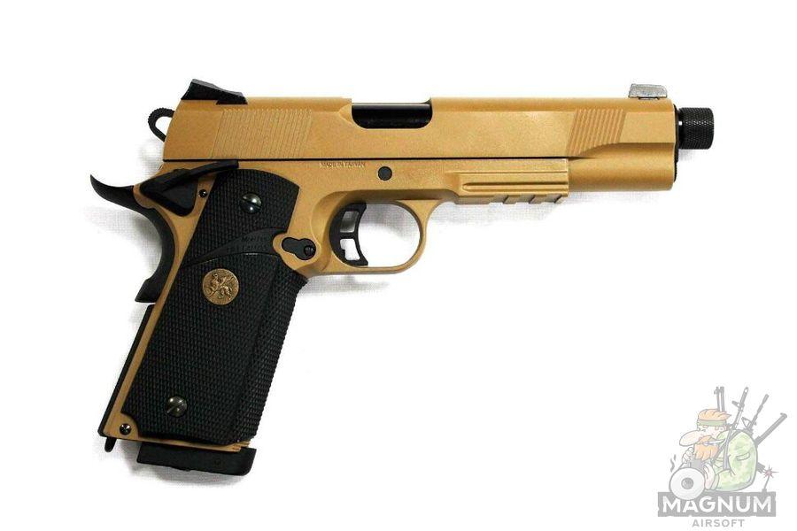M.E.U. KP 07 TBC.CO2 TAN 1 - Пистолет KJW COLT M1911 M.E.U. KP-07-TBC.CO2 TAN