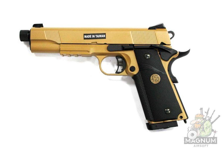 M.E.U. KP 07 TBC.CO2 TAN 2 - Пистолет KJW COLT M1911 M.E.U. KP-07-TBC.CO2 TAN