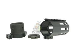 RGW M4 QD Takedown System MLOK Handguard for WE /VFC M4/ AR15 GBBR - Black (4 inch)
