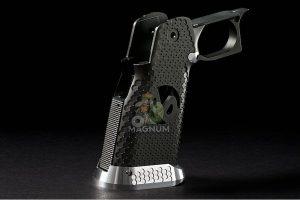 Airsoft Surgeon RWA Infinity CNC Aluminum Aggressive Mobius Grip Set - Gunmetal Grey