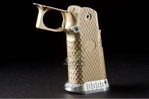 Airsoft Surgeon RWA Infinity CNC Aluminum Standard Logo Recess Grip Set - Champagne Gold