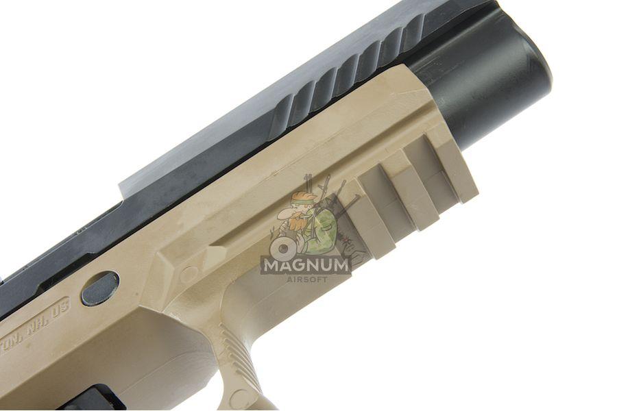 RWC SIG AIR P320 M17 6mm GBB Pistol (Cerakote Black Slide & Magpul FDE Frame) w/ Stippling Type B