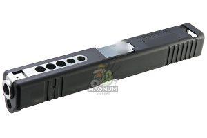 Detonator Aluminum B.T.C. Slide Set for Tokyo Marui Model 17 GBB - Matt Black