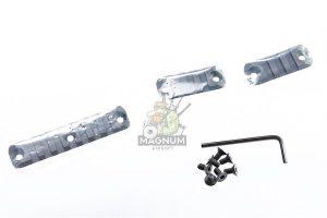 Z-Parts CNC Aluminum10.5 inch 416 SMR handguard for Systema / VIPER / Umarex (VFC) 416 AEG, GBB - Black