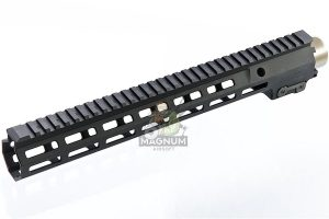 Z-Parts CNC Aluminum 13.5inch Handguard for Tokyo Marui SOPMOD M4/ M16 AEG (with MK16 Barrel Nut) - Black