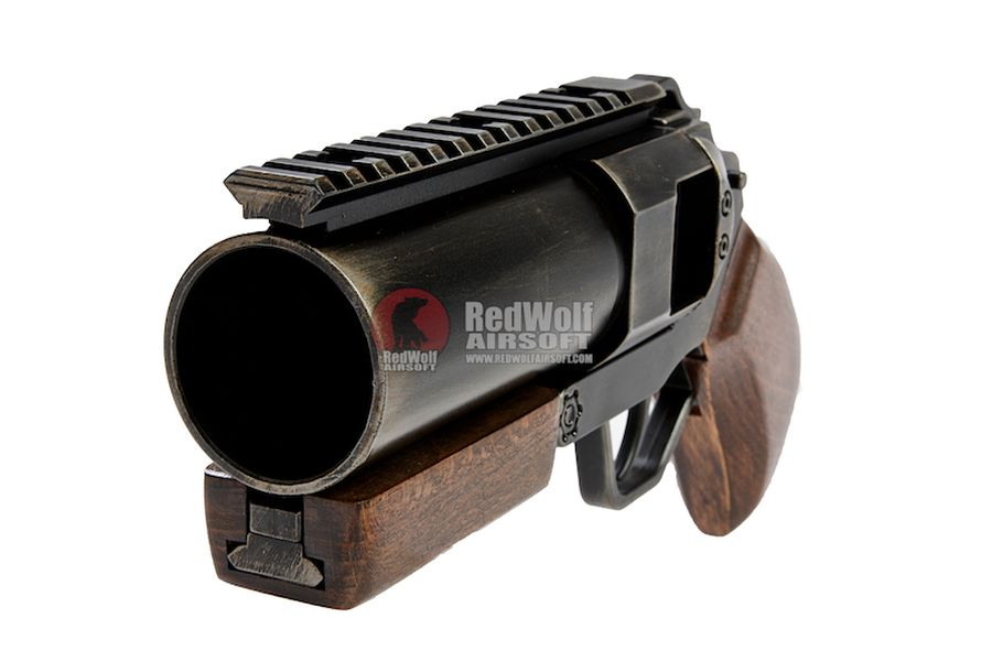ShowGuns Mini Hand Cannon Airsoft Grenade Launcher (Real Wood Grip)