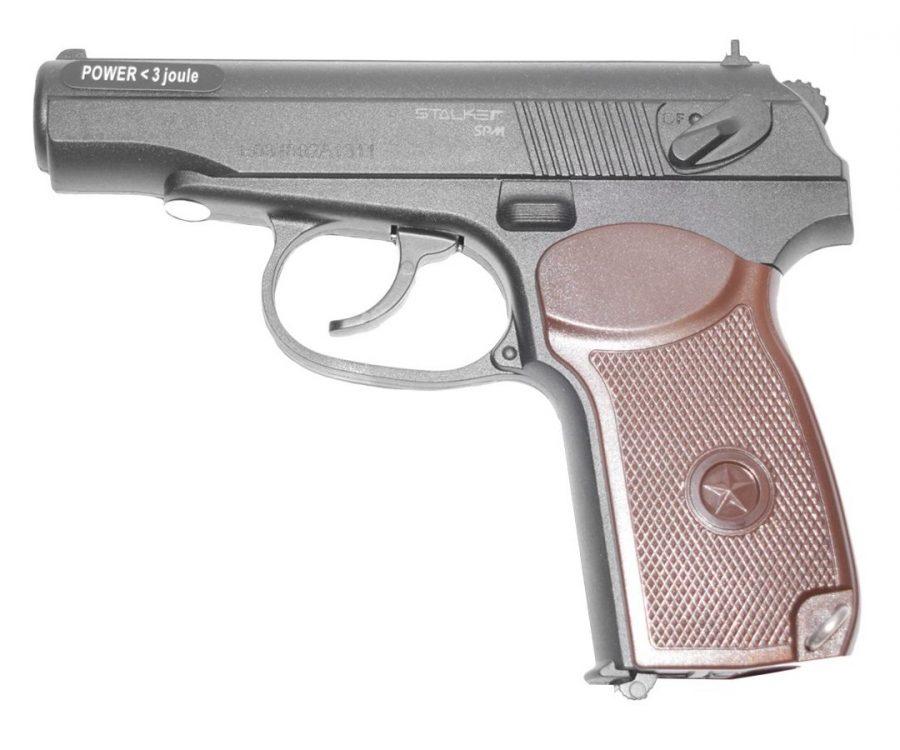 Stalker SPM 900x750 - Пистолет пневматический Stalker SPM (аналог ПМ) к.4,5 мм, пластик, 120 м/с, черный +250 шариков