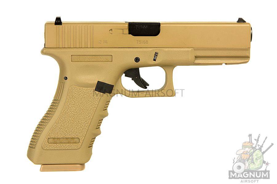EC 1101 DE 1 - Страйкбольный пистолет (East Crane) Glock-17 gen.3 TAN EC-1101 DE