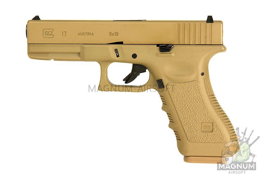 EC 1101 DE 2 - Страйкбольный пистолет (East Crane) Glock-17 gen.3 TAN EC-1101 DE