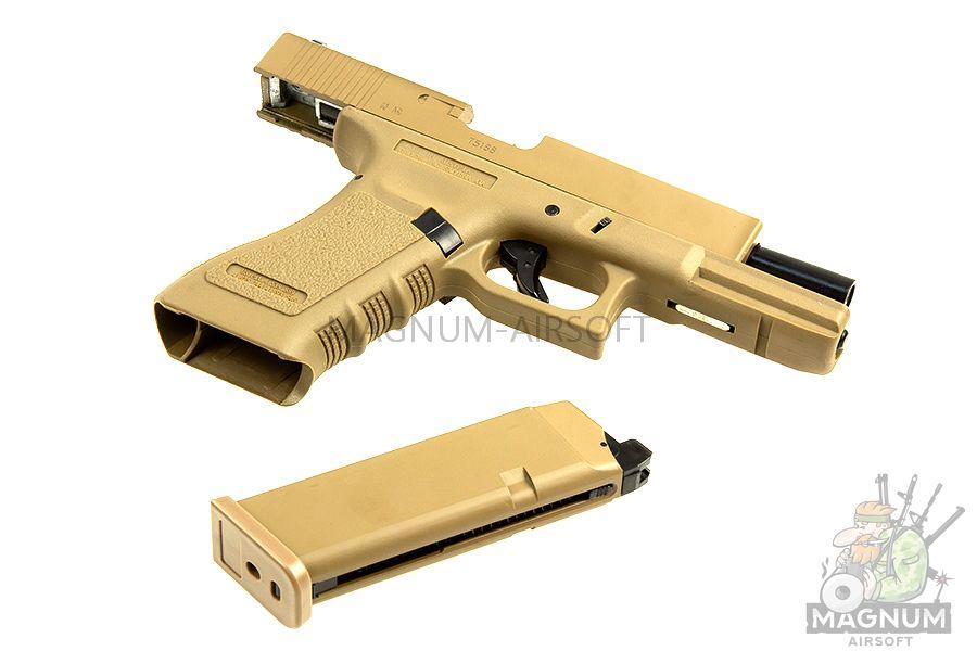 EC 1101 DE 3 - Страйкбольный пистолет (East Crane) Glock-17 gen.3 TAN EC-1101 DE
