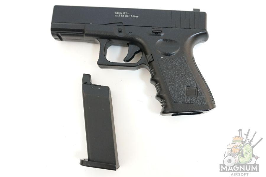 Glock17 s koburoj G.15 SPRING 2 - Пистолет Galaxy Glock17 с кобурой  G.15+  SPRING