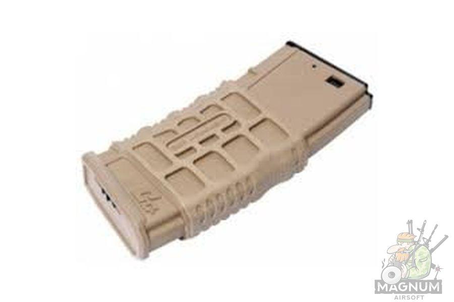 MAGAZIN GG GMAG V1 for GR16 Desert Tan AEG 300 sharov bunkernyj G 08 083 1 - МАГАЗИН G&G GMAG-V1 for GR16  (Desert Tan) (AEG, 300 шаров, бункерный) G-08-083-1