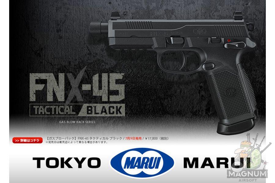Pistolet TOKYO MARUI FNX 45 TACTICAL BLACK GBB plastik 4952839142993 3 - Пистолет TOKYO MARUI FNX-45 TACTICAL BLACK GBB, пластик 4952839142993