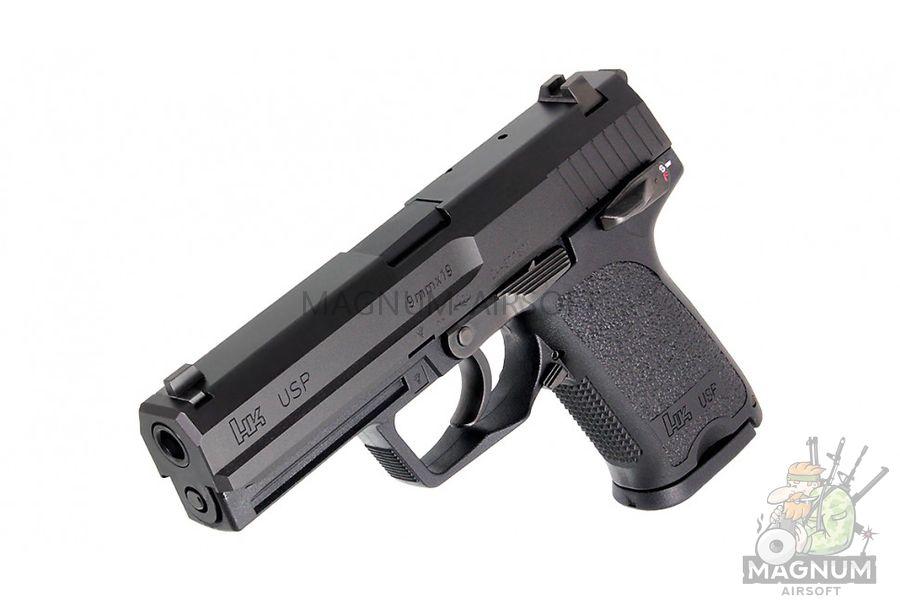 Pistolet TOKYO MARUI HK USP Full Size GBB plastik chernyj 4952839142832 1 - Пистолет TOKYO MARUI HK USP  (Full Size) GBB, пластик, черный, 4952839142832