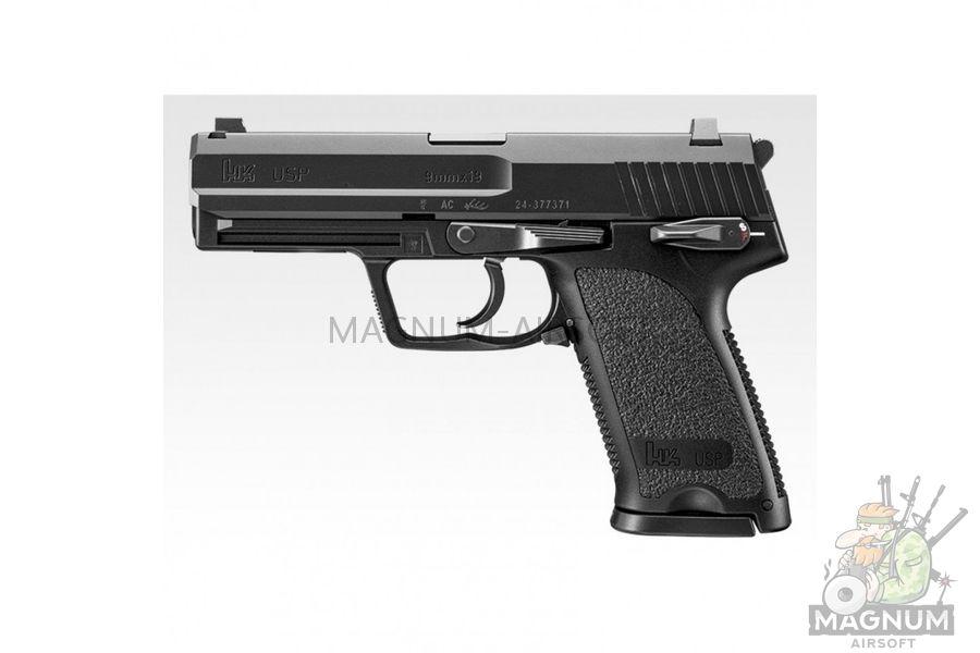Pistolet TOKYO MARUI HK USP Full Size GBB plastik chernyj 4952839142832 2 - Пистолет TOKYO MARUI HK USP  (Full Size) GBB, пластик, черный, 4952839142832