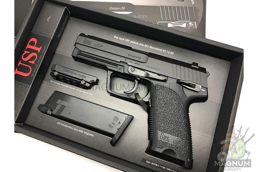 Pistolet TOKYO MARUI HK USP Full Size GBB plastik chernyj 4952839142832 4 - Пистолет TOKYO MARUI HK USP  (Full Size) GBB, пластик, черный, 4952839142832