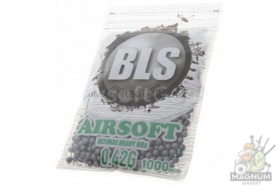 SHariki BLS Precision Grade 042 - Шарики BLS Precision Grade 0,42 (1000шт, серые, пакет)