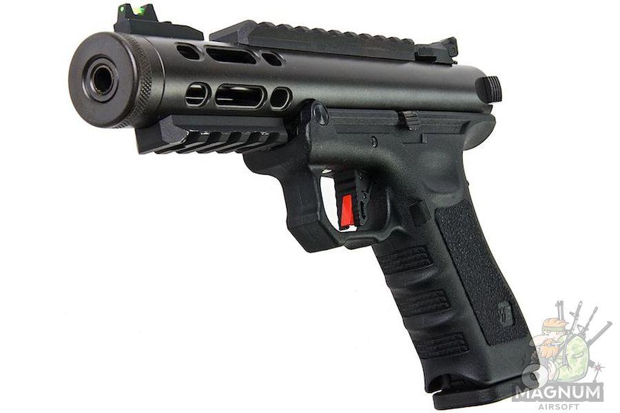 GUNT0925 1L - WE G SERIES GALAXY GBB PISTOL - BLACK