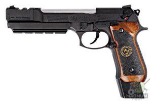 WE M92 SPL 1 Brown 1 300x200 - Пистолет WE BERETTA M92F BioHazard Extended/Brown grip Resident Evil (WE-M92-SPL-1 - Brown)
