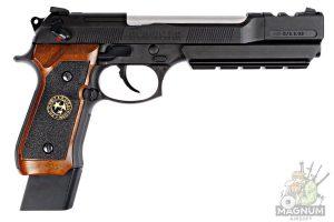 WE M92 SPL 1 Brown 2 300x200 - Пистолет WE BERETTA M92F BioHazard Extended/Brown grip Resident Evil (WE-M92-SPL-1 - Brown)