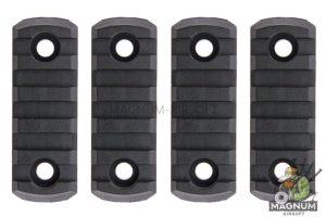 AABB M-LOK Nylon Picatinny Rail Sections 5 Slots - Black ((