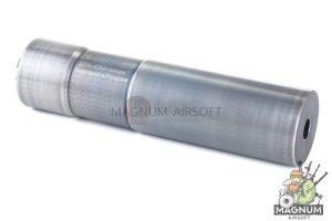 Asura Dynamics DTK-4 Silencer w/ Extended Inner Barrel for AEG / GBB - Silver