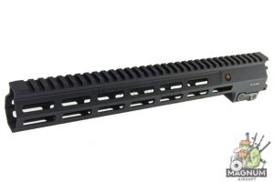 Angry Gun Aluminum MK16 M-Lok 13.5 inch Rail Airsoft Version for AEG/ GBB/ PTW (Sopmod Block III) - Black