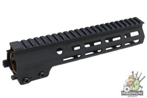 Angry Gun Aluminum MK16 M-Lok 9.3 inch Rail Airsoft Version for AEG/ GBB/ PTW (Sopmod Block III) - Black