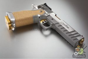 Airsoft Surgeon Sight Tracker Silver With Gold Accents