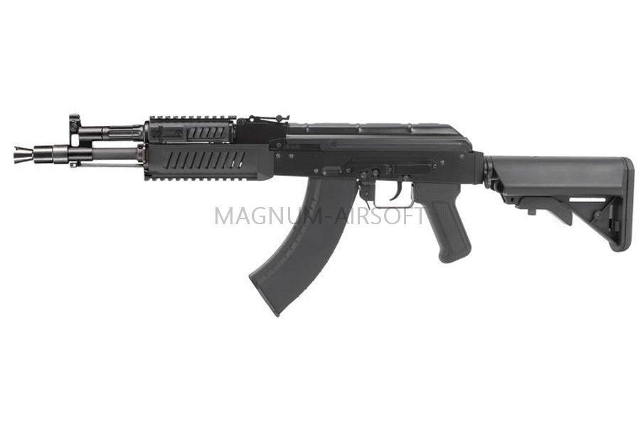 АВТОМАТ ПНЕВМ. G&G RK-104 EVO CRANE AEG, (140-150m/s) пластик, черный, модель - TGK-104-EVC-BBB-NCM
