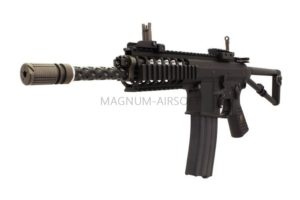 "Автомат WE AWSS KAC PDW 10"", GBB, 2 магазина в комплекте - (open bolt version) - GG223 (BK)"