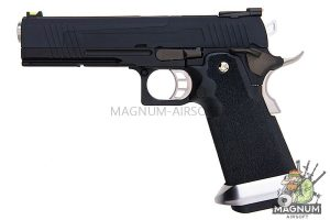 AW Custom HX10 Series Split Frame Hi-Capa Competition Grade Gas Blowback Pistol - Black