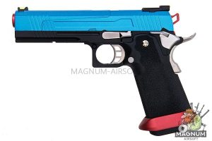 AW Custom HX10 Series Split Frame Hi-Capa Competition Grade Gas Blowback Pistol - Patriot