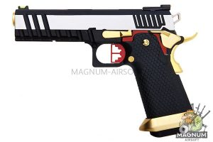 AW Custom HX20 Series 'Competitor' Hi-Capa Gas Blowback Pistol - Two Tone