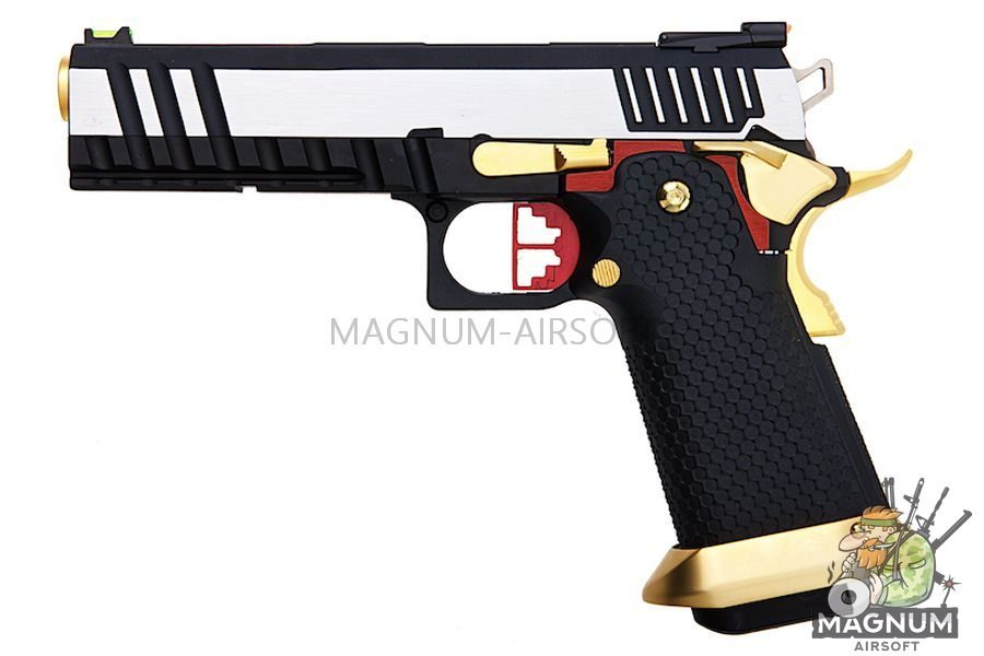 AW Custom HX20 Series 'Competitor' Hi-Capa Gas Blowback Pistol - Two Tone