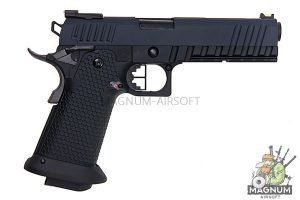 AW Custom HX20 Series 'Competitor' Hi-Capa Gas Blowback Pistol - Black