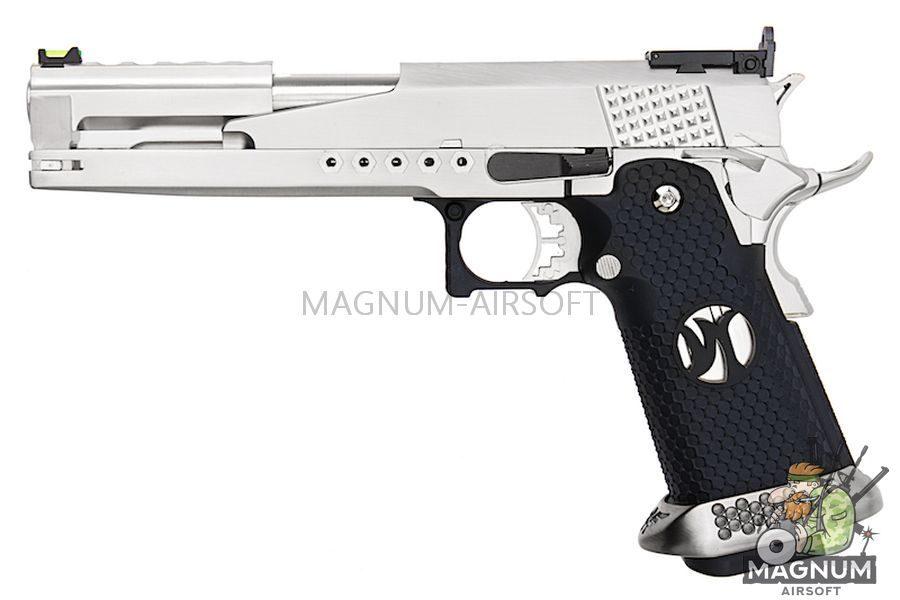 AW Custom HX22 Series Gold Standard IPSC Gas Blowback Pistol - Silver