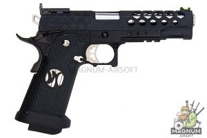 AW Custom HX25 Series Full Metal Competition Ready Gas Blowback Pistol - Black