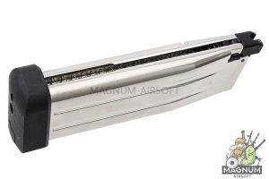 AW Custom 30 rds Spare Green Gas Magazine for Tokyo Marui / WE / AW Hi Capa 5.1 - Silver