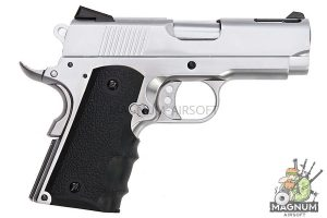 AW Custom NE10 Series 1911 Officer Size Gas Blowback Pistol - Silver