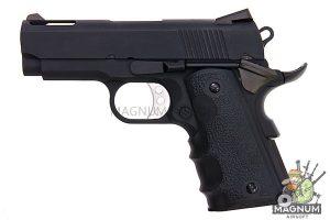 AW Custom NE10 Series 1911 Officer Size Gas Blowback Pistol - Black