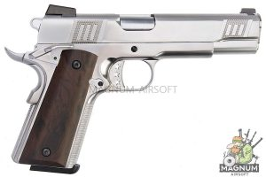 AW Custom Iconic 1911 Gas Blowback Pistol - Silver