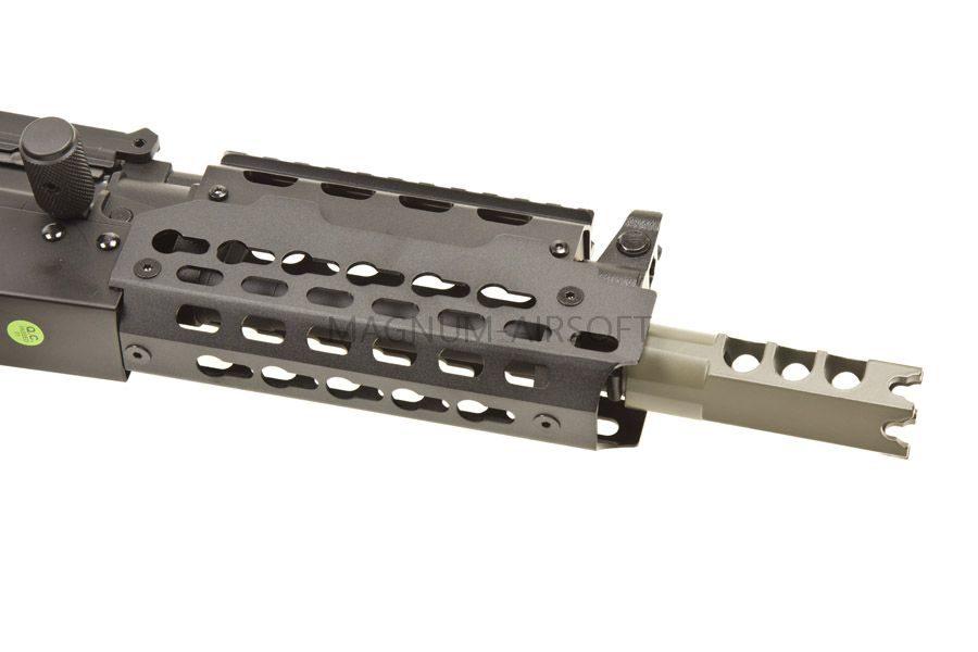 Автомат CYMA RKS-74U, AEG, металл, черный пластик, выдвижной приклад, RIS, ЗУ, АКБ - CM.076D