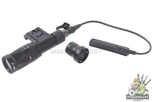 Blackcat Airsoft M300 Flashlight with Tactical IMF Mount - Black