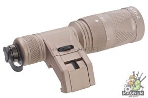 Blackcat Airsoft M300 Flashlight with Tactical IMF Mount - Tan