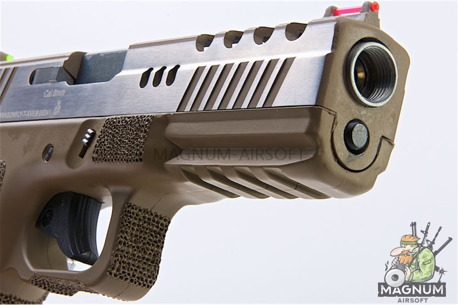 APS Dragonfly Desert D-Mod 2-Tone Pistol - Gas Version